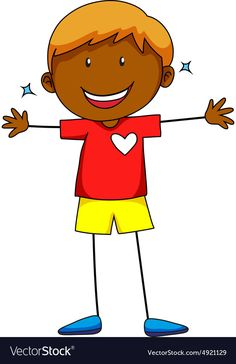 Happy boy vector image on VectorStock Free Vector Images, Vector Free, Royalty Free Clipart, Happy Boy, Pikachu, Cricut, Clip Art, Writing, Drawings