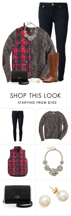 """""""Merry (2 days after) Christmas! ❤️ // 12.27.15"""" by ellekathleen ❤ liked on Polyvore featuring 7 For All Mankind, J.Crew, Tory Burch, Kate Spade, Erica Courtney, women's clothing, women, female, woman and misses"""