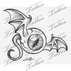 Marketplace Tattoo Flying eye #6105 | CreateMyTattoo.com