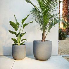 """Radius Planters #westelm: Medium size is 15.7""""diam. x 17.3""""h"""