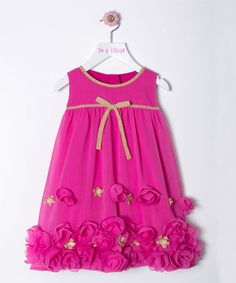 Look at this #zulilyfind! Fuchsia Rose Dress - Toddler & Girls by in a pickle #zulilyfinds