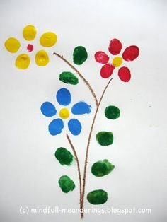 Finger Print Flowers