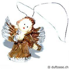 Engelchen mit Geige 3 cm - Schutzengel - Cleopatra's Duft-Oase