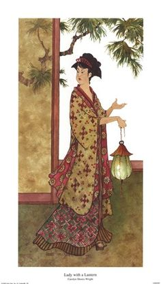 Lady with a Lantern, Art Print by Carolyn Shores-Wright