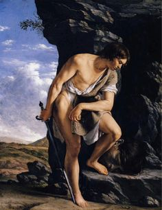 Orazio Gentileschi, David Contemplating the Head of Goliath-1610-GemaldeG-B. on ArtStack #orazio-gentileschi #art