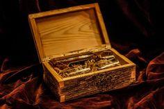 wooden whiskey box