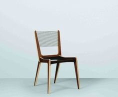 Jacques Guillon Cord Chair modern dining chairs and benches Plywood Furniture, Cool Furniture, Modern Furniture, Furniture Ideas, Contemporary Dining Chairs, Modern Chairs, Furniture Styles, Furniture Design, Recliner Cover