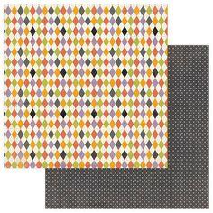 Photoplay - Bootiful - 12 x 12 Harlequin Scrapbook Paper