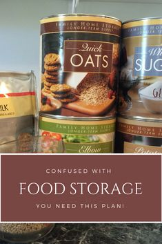 Confused with food storage? Grab this FREE PDF. How to start an emergency food supply when you don't know where to start with food storage. Free food storage tips. Free emergency preparedness printables.
