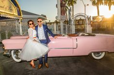 Our bride wore the Baroness Pearl wedding dress at her Las Vegas renewal of vows. Vows, Antique Cars, Planets, Las Vegas, Brides, Pearl, Kitty, Wedding Dresses, How To Wear