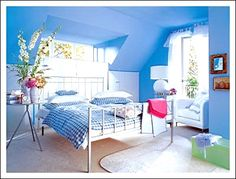Great Blue Walls Bedroom Painting Designs