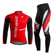 ZEROBIKE® Men's Soft Long Sleeve Breathable Bicycle Cycling Jersey Polyester Clothing Outdoor Sports Fall Autumn ** For more information, visit image link.