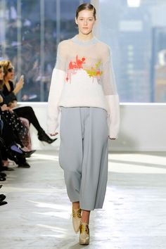 Delpozo AW 2014 - The cropped trouser is here to stay for another season, in powder blue it has a feminne touch.