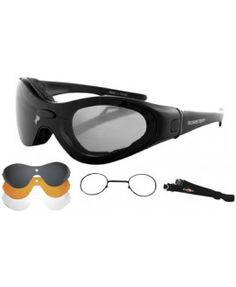 9d38cc5bbbc Bobster Spektrax Convertible Goggles Sunglasses With Optical Insert Black