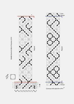 Toinen ohje on kaksilankainen, siinä on S-kirjaimia ja sydämiä / this pebble-weave pattern has S-letters and small hearts.    Osa teist...