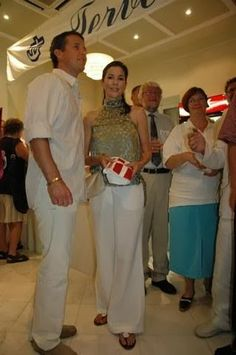 August 2004 Athens Olympics attending a reception from Danish ambassador at Cafe Scandinavia