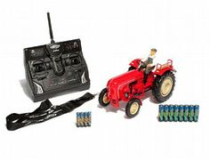 The Carson R/C tractor Porsche Diesel Super looks just like the classic model of tractor. Due to the digital module the nostalgic tractor sounds like the real thing. Led Manufacturers, Radio Control, Tractors, Diesel, Porsche, Digital, Classic, Model, Diesel Fuel