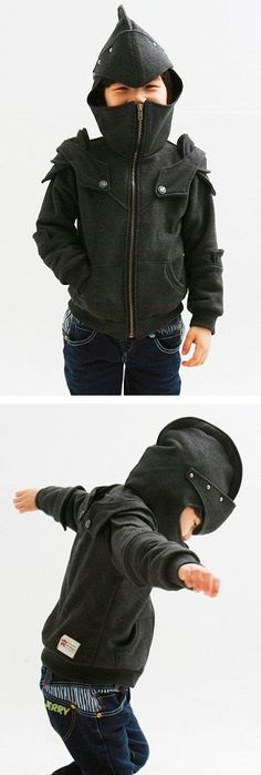 I know a little boy who needs these!! Little Knight Hoodie - so cute!