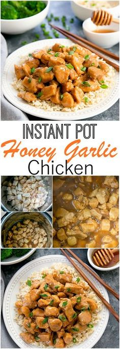 Instant Pot Honey Garlic Chicken. Everything cooks in one pot for an easy dish ready in less than 30 minutes.