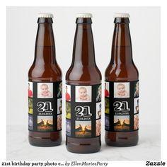 21st Birthday Decorations, 90th Birthday Parties, Birthday Ideas, Birthday Presents, Guys 21st Birthday, 21 Birthday, Birthday Cakes, Bottle Labels, Beer Bottle