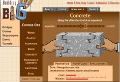 Building Big - structures and materials website