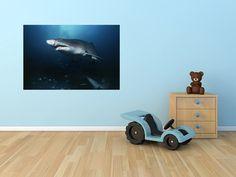 Sand tiger shark wall decal shark wall by 3DWindowWallStickers