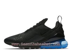 big sale 0b1d6 9cafb Running Nike Air Max 270 Black Photo Blue AH8050 009 Chaussures Nike Pas  Cher Pour Homme Noires