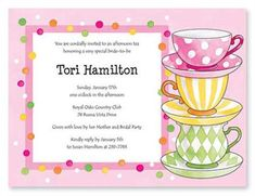 Free Afternoon Tea Party Invitation Template | template ...