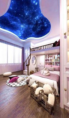 Small Room Design Bedroom, Bedroom Furniture Design, Girl Bedroom Designs, Home Room Design, Room Ideas Bedroom, Kids Room Design, Modern Bedroom, Smart Home Design, Small House Interior Design