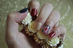 british flag nail design !!!