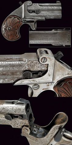 A Double Deringer pistol, dating: last quarter of the 19th Century provenance Europe.: