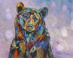 Find Wildflower Rain and other limited edition wildlife prints from Montana artist Carol Hagan on the Carol Hagan Studios website. Bear Paintings, Wildlife Paintings, Wildlife Art, Watercolor Card, Watercolor Animals, Animal Drawings, Art Drawings, Horse Drawings, Drawing Art