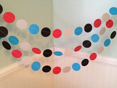 Thomas The Train Inspired Paper Garland by ClassicBanners on Etsy, $10.00 I like the idea of this, but make it myself...