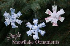 simple snowflake ornament - happy hooligans