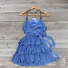 Want this!!  Scattered Ruffles Dress in Lake Blue...