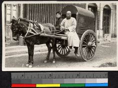 Donkey-drawn cart in Beijing (China) ca.1934.     Courtesy: Special Collections, Yale   Divinity School Library, New Haven, CT (USA).