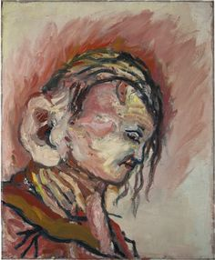 Georg Baselitz (German, b. 1938), Ralf-Kopf, 1965. Oil on canvas, in artist's frame, 100 x 81 cm.