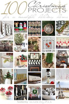 100 Christmas Projects to Inspire YOU! www.livelaughrowe.com #christmas