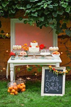 Dessert Station, adorable for fall !!!