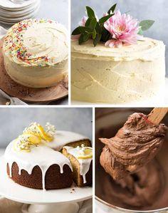 Vanilla cake decorating ideas Chocolate Fudge Frosting, Chocolate Mug Cakes, Cupcake Recipes, Baking Recipes, Perfect Vanilla Cake Recipe, Bakery Style Cake, Cake Pan Sizes, Western Cakes, Cake Mug