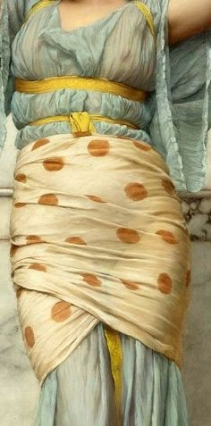 Marble Room (detail), 1894 by John William Godward (British, John William Godward, William Waterhouse, Fabric Painting, Painting & Drawing, Lawrence Alma Tadema, Detailed Paintings, Illustration Art, Illustrations, Classic Paintings