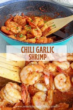 Spicy and garlicky, this chili garlic shrimp has all the bold flavors you love. Ready in minutes, it's an easy weeknight dinner perfect with rice or noodles. #seafood #shrimp #easymeals Fish Recipes, Seafood Recipes, Drink Recipes, Easy Family Dinners, Easy Meals, Easy Cooking, Cooking Recipes, Grilled Seafood, Scallop Recipes