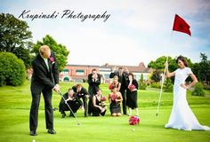 Wedding Photography. Golf Course Wedding Picture.