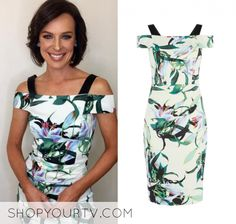 Natarsha Belling wears this off the shoulder floral printed bodycon dress in this episode of The Project on Saturday the of September It is the Karen Millen Lily Print Pencil Dress Off Shoulder Floral Dress, Off The Shoulder, Karen Millen, Pencil Dress, September, Floral Prints, Lily, Bodycon Dress, Printed