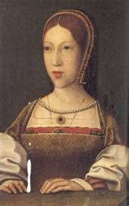 Margaret Tudor, Queen of James IV of Scotland, grandmother of Mary QoS & of her husband Henry Stewart, Lord Darnley.