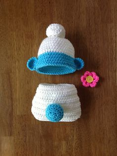 Ravelry: Newborn Hat and Diaper Set pattern by Terree Lowe
