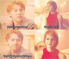 Romione hehe :) idk why jk Rowling thinks they shouldn't be together! Harry Potter Disney, Harry Potter Ships, Harry James Potter, Harry Potter Jokes, Harry Potter Pictures, Harry Potter Cast, Harry Potter Fandom, Harry Potter World, Harry Potter Kids Names