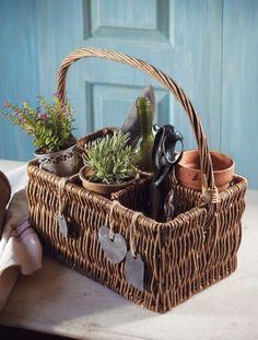 love this little gardening basket.