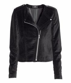 velveteen biker jacket @ h&m