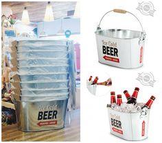 Cubo para mantener la cerveza bien fresquita. Se vende en www.indalonaturacosasbonitas.es